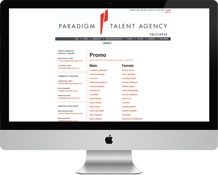 Paradigm Agency Voiceover